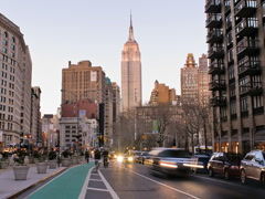 New York Skyline Empire State Building Time-lapse Day-to-Night - 640x480 Stock Footage