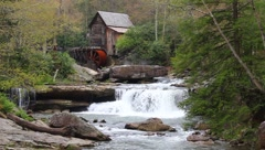 Babcock Grist Mill WV Stock Footage