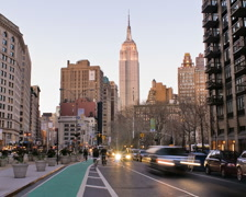 New York Skyline Empire State Building Time-lapse Day-to-Night - PAL Stock Footage