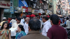 Mumbai street crowd P1 Stock Footage