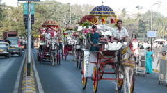 Mumbai street horse P3 Stock Footage