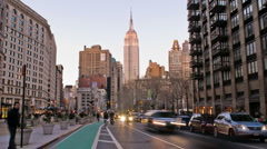 New York Skyline Empire State Building Time-lapse Day-to-Night – HD Stock Footage