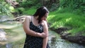 teen wading in water 8019 Footage