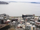 Seattle Space Needle Elevator View Stock Footage