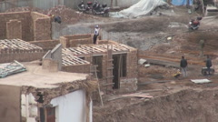 Kashgar's old town rebuilding Stock Footage