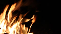 Fire closeup Stock Footage