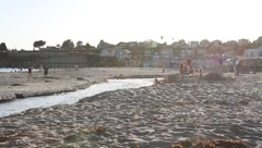 Sunny day at capitola beach Stock Footage