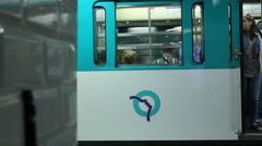 Paris subway people - stock footage