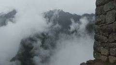 Stock Video Footage of Clouds rolling over Machu Picchu