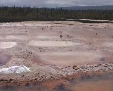 Salt pans on Santa Cruz Island, Galapagos Stock Footage