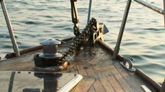 Raise anchor - stock footage