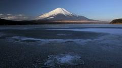 The Majestic Mt Fuji, on Lake Yamanaka, Japan, Asia, Time Lapse Stock Footage