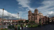Stock Video Footage of Pan around Plaza de Armas Cusco