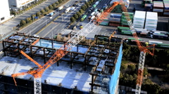 Construction site, Container Port, Odaiba, Tokyo, Asia, Time-Lapse Stock Footage