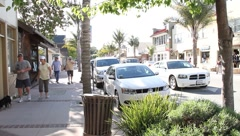 Downtown Capitola California - stock footage