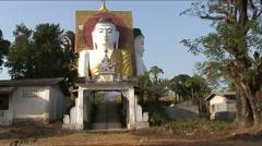 Kyaik Pun pagoda Stock Footage