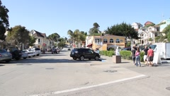 Downtown Capitola CA - stock footage