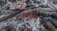 Dying fire Stock Footage