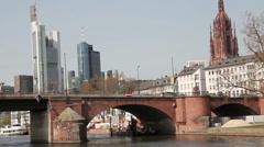 Skyline from Frankfurt - stock footage