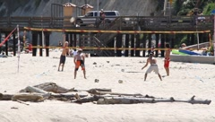 Beach volleyball - stock footage