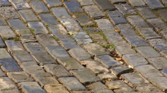 Puerto Rico - Cobblestones - Adoquines - Centuries Old Brick Road - Old San Juan Stock Footage