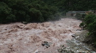 Stock Video Footage of Urubamba River in full flood