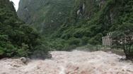Urubamba River in full flood Stock Footage