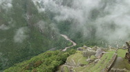 Clouds rolling over Machu Picchu Stock Footage
