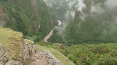 Clouds rolling through the Urubamba Valley - stock footage
