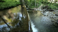 Peaceful Waterfall High Angle Stock Footage