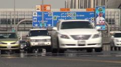 Dubai highway Stock Footage
