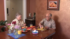 Oregon senior couple in a B&B Stock Footage