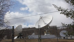 Satellite Base Receivers Stock Footage