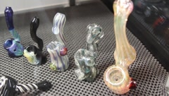 Marijuana Pipes 2 Stock Footage
