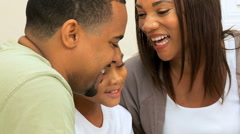 Portrait of Happy African American Family Group Stock Footage