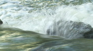 Creek Rushing over a Rock - HD 1080 Stock Footage