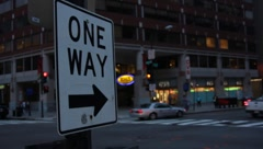 One Way Street (HD) c Stock Footage