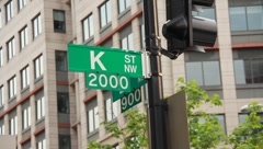 K street NW Washington DC Street Sign (HD) c - stock footage
