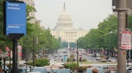 United States Capitol Building and Pennsylvania Avenue Washington (HD) c Stock Footage