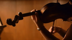 Stock Video Footage violin instruments, symphony orchestra - stock footage