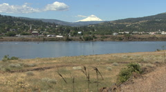 Columbia and Mount Hood at The Dalles Stock Footage