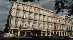 Parque Central, the main square of old Havana Stock Footage