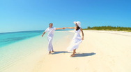 Happy Couple on Secluded Tropical Island Stock Footage