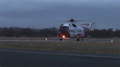 Helicopter Takes Off Stock Footage
