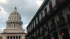 The Capitolio building in central Havana Stock Footage