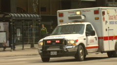 Chicago ambulance Motion JPEG B POND5 INTERLACE! - stock footage