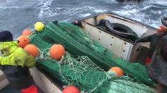 Nets Go Out To Sea Stock Footage