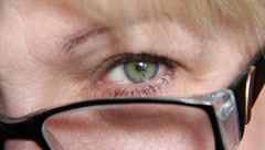 Woman with glasses Stock Footage