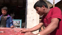 Nepal: Men play typical Game - stock footage