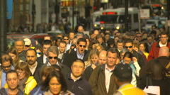 Wide Crowded Bridge  Motion JPEG B POND5 INTERLACE! - stock footage